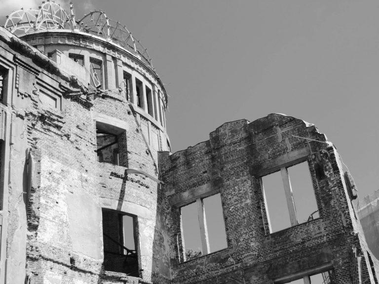 Remenants of Hiroshima nuclear bomb explosion, Japan 2015