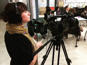With mentorship alongside award-winning journalists and filmmakers from CBC and APTN, Karli takes the art and skill of storytelling to another level of seriousness. (Credit: Bethanee Diamond)