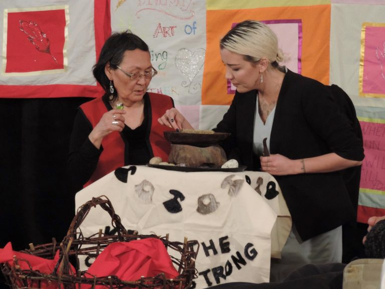 Lighting the Qulliq: Supporting the Saunder's family during the 2018 MMIW Inquiry in Membertou (Karli Zschogner)