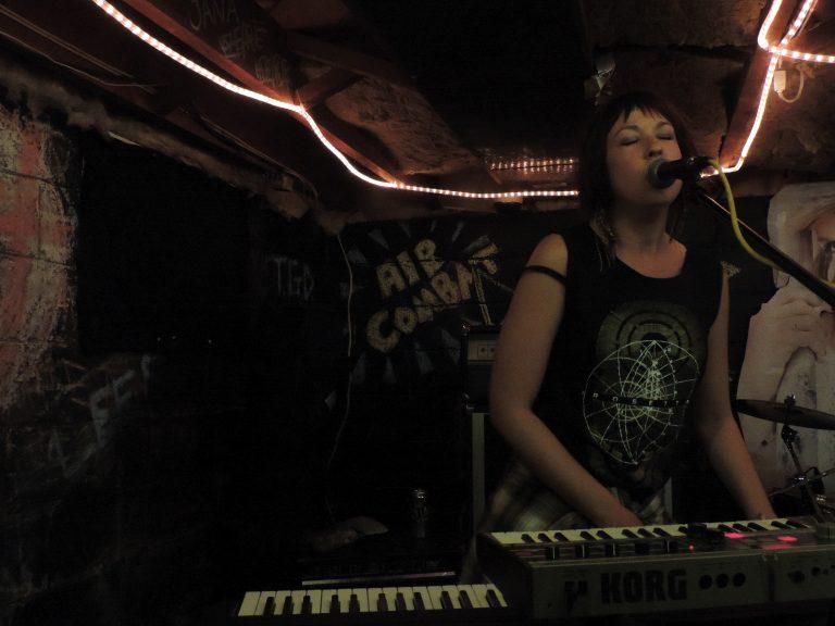 Pianist Nicole Lefebvre of the metal band Destroy Clocks