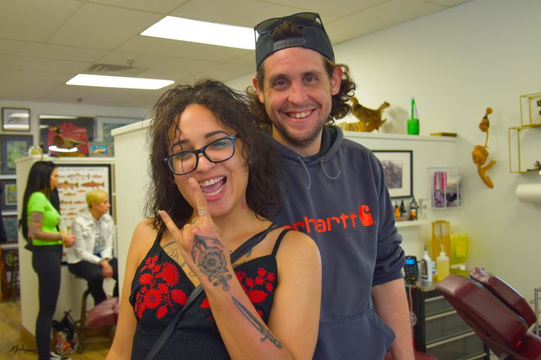 Tattooists at Whitby, ON flash day at Timeless Tattoo Company, 2019