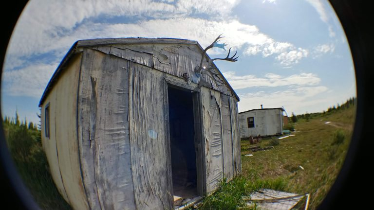 Old hunting cabins on Hudson's Bay near Fort Severn First Nation, 2019