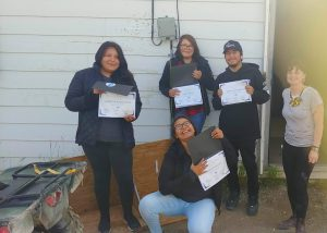 Karli delivers multimedia training to fly-in Fort Severn First Nation in an intensive summer program in 2019.
