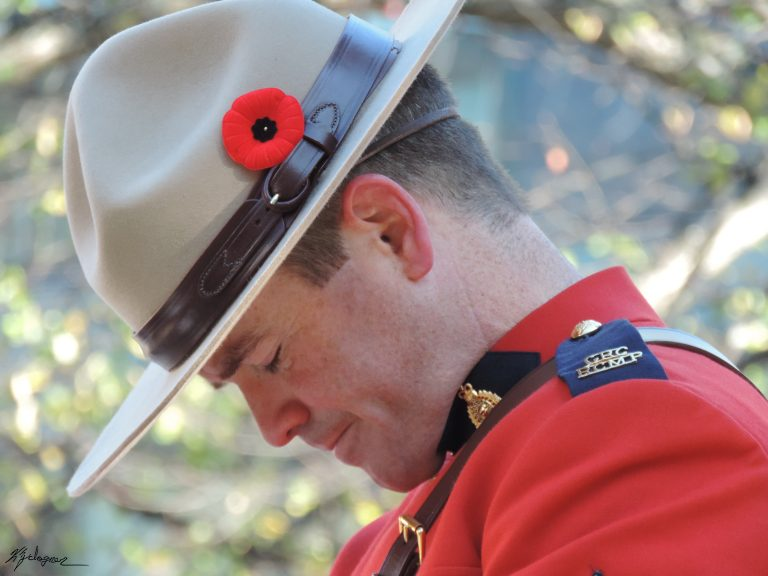 RCMP officer during Halifax Remembrance Day 2017