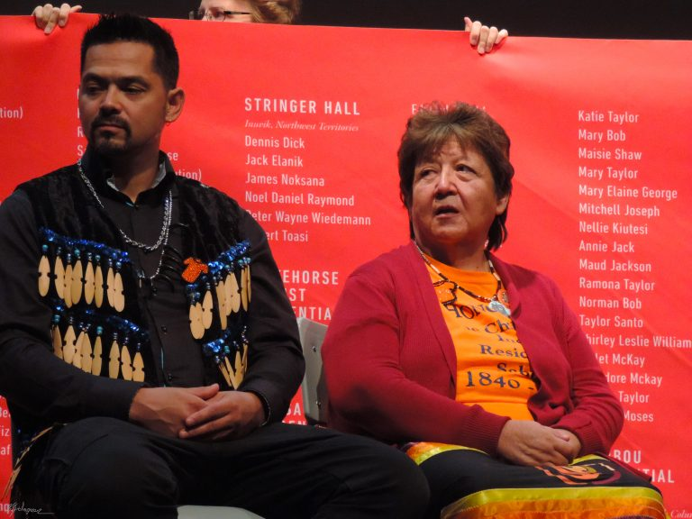 Orange Shirt Day 2019 as the newly released banner of 2,800 children's names lost in Indian Residential Schools tours Ottawa's Hillcrest High School.